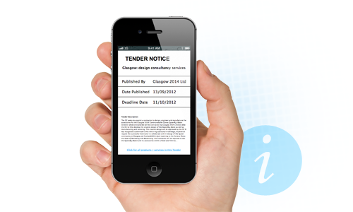 Customised tenders profile